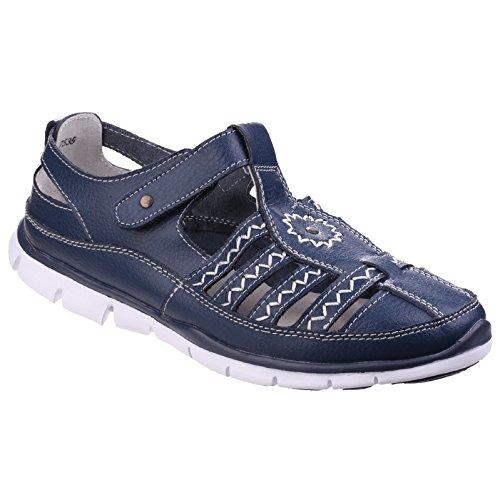 Fleet & Foster Femmes Cabernet Memory Foam Fisherman Chaussures Sandales Cuir