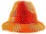 LED Party Hut Pailletten Huete mit Lichtern Fasching Hüte (neon orange)