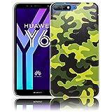 thematys Passend für Huawei Y6 2018 / Honor 7A Camouflage Handy-Hülle Silikon - staubdicht stoßfest & leicht - Smartphone-Case