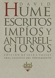 Escritos impíos y antirreligiosos par David Hume