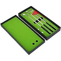 VGEBY1 Bolígrafo para Club de Golf, Caja de Regalo Fija estacionaria de Golf de 3 Piezas con balones de Bandera Bolos de Mini Bolos de Golf para Amigos de la Familia