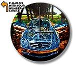 Unbekannt Silver Mercedes Photo Clock Wanduhren Foto Uhr