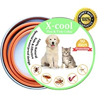 X-Cool Collar Antiparasitario para Perro y Gato, Seguro y Saludable Tamaño Ajustable e