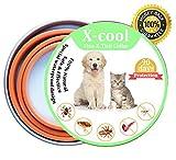X-Cool Collare Antipulci Cane Gatto, Sicuro e sano con formula naturale regolabile impermeabile Collari antiparassitari 50cm (50cm)
