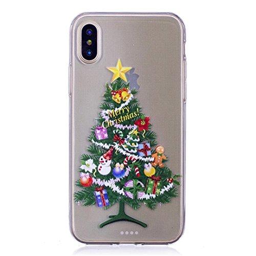 coque iPhone 5/5S/5SE silicone Doux TPU noël séries super léger et mince haute transparence étui pour téléphone case cover DECHYI SD# 6