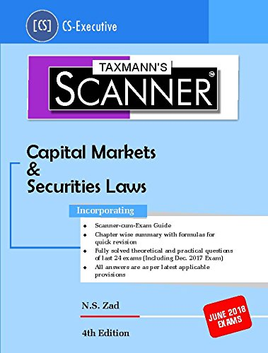 Scanner Capital Markets & Securities Laws (CS-Executive) June 2018 Exams