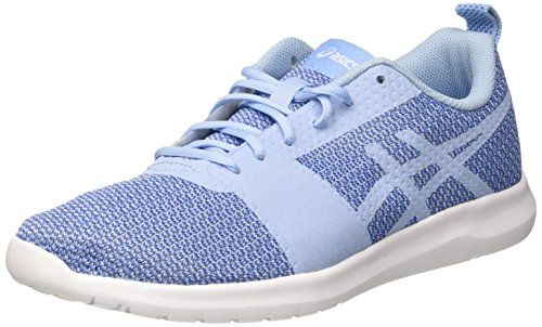 Asics Kanmei, Zapatillas de Gimnasia Mujer, Azul (Airy Blue/Airy Blue/Regatta Blue), 40 EU