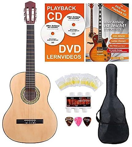 Classic Cantabile AS-851-L guitare de concert 4/4 pour gauchers Starter-SET