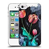 Head Case Designs Offizielle Mai Autumn Tulpen Bluete Blumig Soft Gel Hülle für iPhone 4 / iPhone 4S