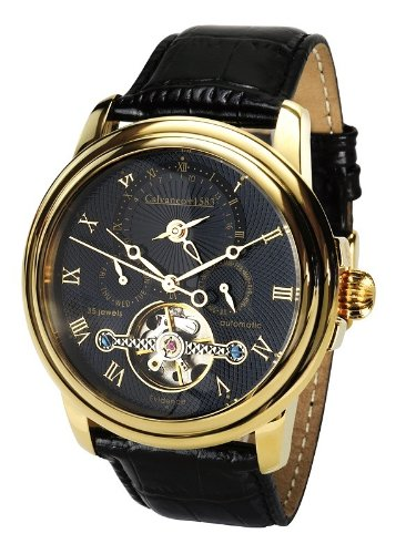Calvaneo 1583 Evidence 'Or Black' Dualtime Montre Automatique