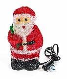 LED Acryl Weihnachtsfigur, 16 LEDs, Innendekoration, Höhe ca. 20 cm, 24V, lieferbar als Weihnachtsmann oder Schneemann (Rot)