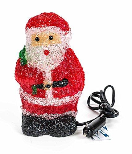Preisvergleich Produktbild LED Acryl Weihnachtsfigur, 16 LEDs, Innendekoration, Höhe ca. 20 cm, 24V, lieferbar als Weihnachtsmann oder Schneemann (Rot)