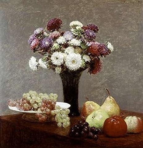 Henri Fantin-Latour – Still Life With Dahlias and Fruit Fine