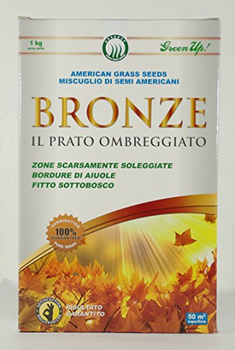 BRONZE de GRAINES pour PELOUSE de pour SHADY ZONES en PACKS de 1 KG