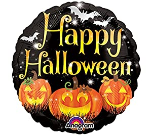 Amscan International 3389409 Happy Pumpkins - Mini Globo de Papel de Aluminio