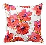 Spring Bright Blumen, pastell Floral Retro Stripes Überwurf Kissen Fall 18* 18, Cxx-7, 18 X 18 Inches