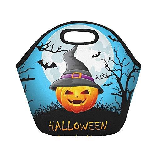 nch-Tasche Happy Halloween Party Night Große wiederverwendbare thermische dicke Lunch-Tragetaschen für Brotdosen Für den Außenbereich, Arbeit, Büro, Schule ()