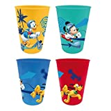 4er Set Kinder Becher Trinkbecher Saftbecher Dory Paw Patrol Spiderman Avengers (Mickey)