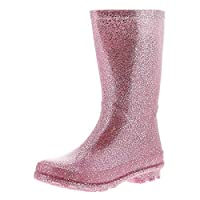Miss Riot Glitzy Girls Kids Wellies Wellington Boots Pink - Pink - UK Sizes 1-13