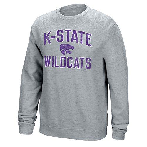 J America NCAA Kansas State Wildcats Mens NCAA Men's Classic Arch Team Sweatshirt, Large, Light Heather Fall Kansas State Wildcats
