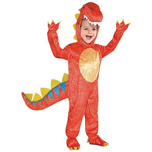 Joker 844661-55 Costume per travestimento da Dinosauro, Bambino, Multicolore , taglia S (3-5 anni)