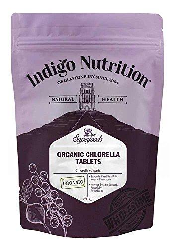 Indigo Herbs Biologisches Gebrochenen Zellwänd Chlorella tabletten - 250 tabletten (500mg) -