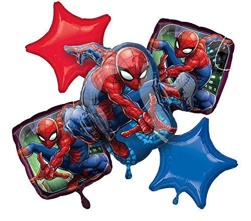 Amscan 3466701 Bouquet Spider Man Folienballon, Folie, Mehrfarbig