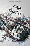 TAB Buch: 120 Seiten Gitarren Tabs mit Notenlinien zum Gitarre lernen