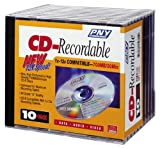PNY CDR010B12-JS CD-R 80 Minute, 700 MB, 12x (10-Pack with Jewel Cases)