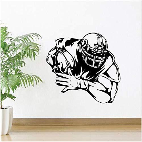 (Newberli Fußball Spieler Wandaufkleber Dekoration Sport Wandkunst Wand Fußball Fußball Wandtattoo Athlet Spieler Wand Poster 44X42 Cm)
