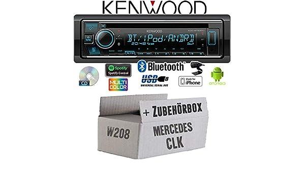 Spotify Bluetooth Mercedes CLK W208 Einbauset Autoradio Radio Kenwood KDC-BT530U Einbauzubeh/ör Android iPhone CD//MP3//USB
