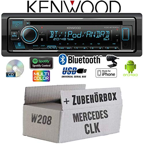 Mercedes CLK W208 - Autoradio Radio Kenwood KDC-BT530U - Bluetooth | Spotify | iPhone | Android | CD/MP3/USB - Einbauzubehör - Einbauset