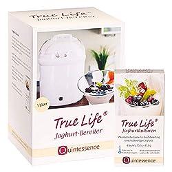 Quintessence Wissen, was gut tut. True Life Joghurtbereiter+ True Life Joghurtkulturen 4 Sachets à 10,4 g im Geschenkset