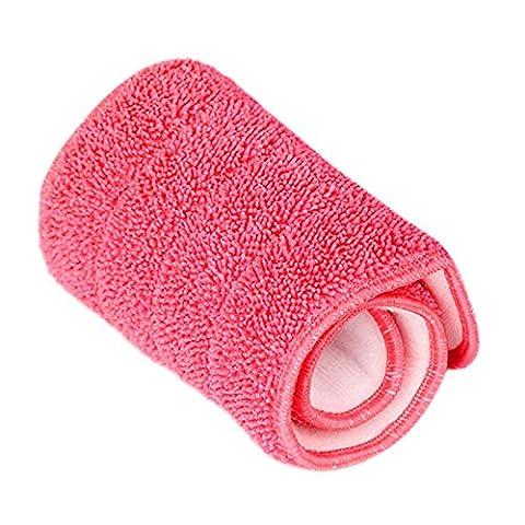Lugii Cube pratique Nettoyage Ménage Balai de remplacement Pad humide d'absorption à sec poussière Chiffon de balai plat en microfibre, rouge