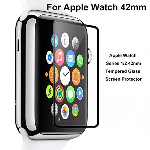 [2-Unidades] Protector de Pantalla Para Apple watch Series 1 Series 2 Series 3 42mm ,iTieTie Cristal Templado ultra fino 0.26 mm de alta definición