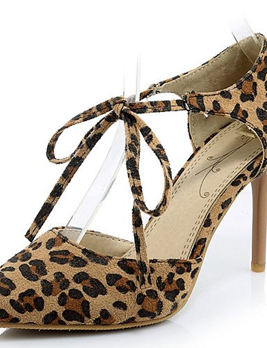 WSS 2016 Chaussures Femme-Habillé / Décontracté / Soirée & Evénement-Noir / Rouge / Gris / Léopard-Talon Aiguille-Talons / Bout Pointu-Chaussures leopard-us3.5 / eu33 / uk1.5 / cn32