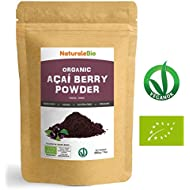 Organic Açai Berries Powder [ Freeze-Dried ] 200g | 100% Pure Brazilian Acai, Lyophilised, Raw. Extract from Acai Berry Pulp. Superfood Rich in Antioxidants and Vitamins | Vegan & Vegetarian Friendly.