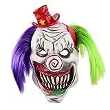 TTXLY Máscara de Halloween Horror Sombrero de Payaso de Red Hat Sombrero de Halloween Casa encantada Escape de la habitación Escape en Vivo Máscara de Disfraces Disfraces Fiesta de Disfraces