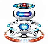#10: ANG Dancing Naughty Robot with 3D Flashing Lights & Music for Kids, Battery Operated, Multi Color (360 Degree Dancing Smart Robot)