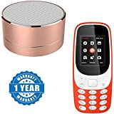 Captcha Portable Bluetooth Wireless Mini Speaker With FM Radio Microphone TF Card Music Loudspeaker Column With A3310 Dual Sim Mobile With Money Detector Light And Battery Saver Option Compatible With Xiaomi, Lenovo, Apple, Samsung, Sony, Oppo, Gionee, Vi