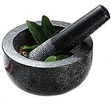 Joywell Mörser mit Stößel Granit Schwarz Ø 16cm