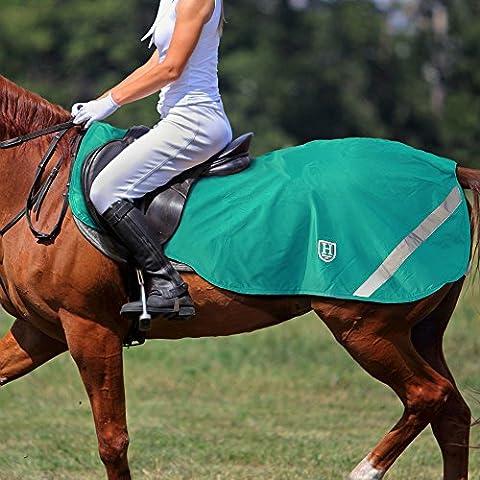 Harrison Howard Climax Drap d'exercice Quarter compétition Tapis Ride On Polaire imperméable haute visibilité Vert - Large: 4' 11'' (Rug Size 6' 3'' - 6' 6'') - Green