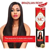 """Michelle Human Hair Blend Weave Brazilian Remy Touch Yaki 18"""" - 4 ( 2 Pack )"""