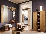 Komplett Garderobenset 5-tlg Eiche massiv natur Garderobe Flurmöbel Spiegel