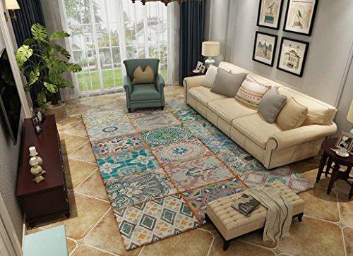 LIXXEZ Mori Wind Teppich Plüsch Bequeme Matte Badezimmer Schlafzimmer Matte Teppich (Color : #8, Size : 1.2 * 1.8m) -
