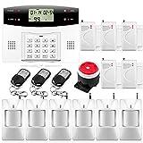 Fuers–G2Kit Alarma Casa inalámbrica GSM/PSTN, IR infrarrojo Detector Movimiento de apertura de puerta/ventana,...