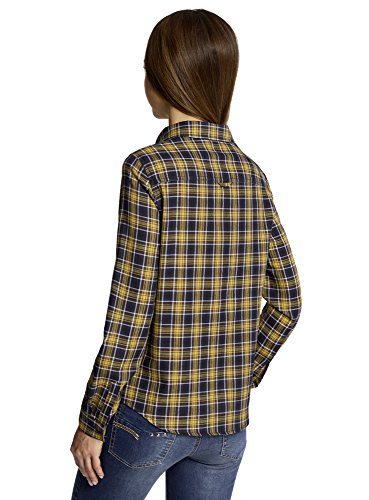oodji Ultra Femme Chemise à Carreaux avec Poches Vert (6A19C)
