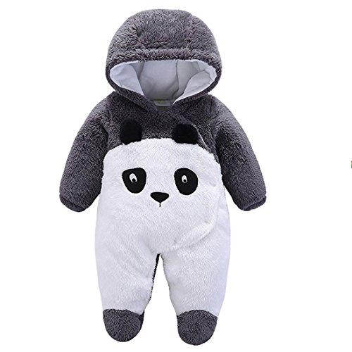 Baby Winter Anzug Neugeborene Warmhalten Kleidung mit Kapuze Griff Lange für Kleinkinder Unisex Lebhafte Pinguin Panda Mignon 0–12Monate Kostüm ()