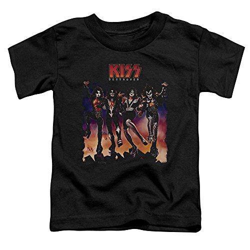 Kiss - Kleinkind Destroyer Abdeckung T-Shirt, 4T, -
