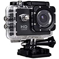 SJ4000 واي فاي 12 ميجابيكسل فل اتش دي ضد الماء اكشن كاميرا رياضية DV كاميرا فيديو CMOS H.264 من روبيك - اسود